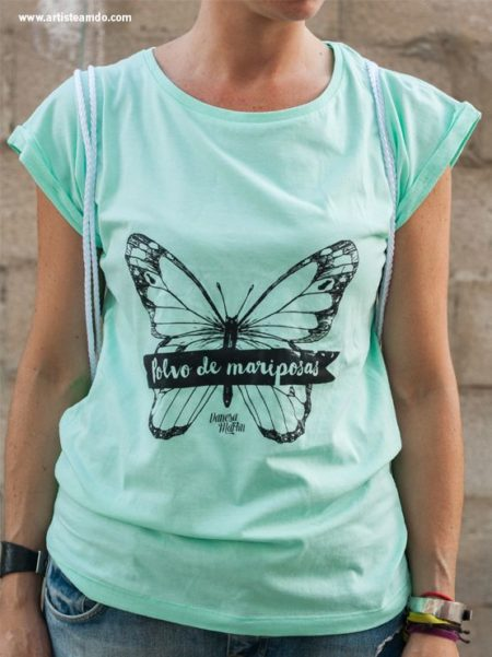 "Camiseta color ""Polvo de mariposas"""