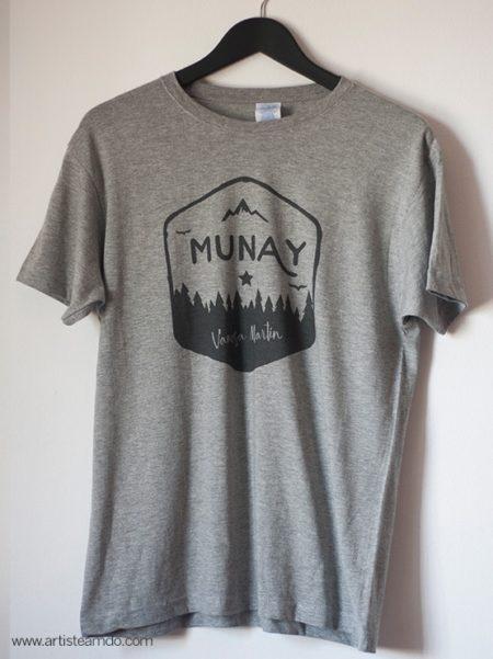 "Camiseta Unisex gris ""Munay"" - VM"