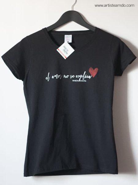 """Camiseta  """"El amor no se explica"""" - VM"""