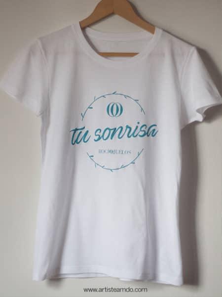 """Camiseta Mujer """"Tu sonrisa"""" - Rocio Ojuelos"""